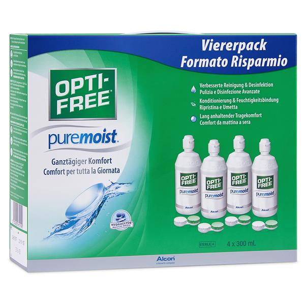 Opti-Free Pure Moist 4x 300ml/4 Behälter